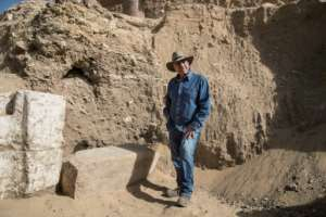 Egyptologist Zahi Hawass shown in a file photo from January 17, 2021.  By Khaled DESOUKI (AFP/File)