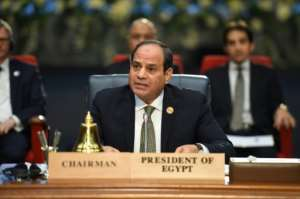 Egyptian President Abdel Fattah al-Sisi said Sunday protesters elsewhere were