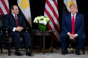 Egyptian President Abdel Fattah el-Sisi is currently out of the country, meeting with world leaders like US President Donald Trump on the sidelines of the UN General Assembly in New York.  By SAUL LOEB (AFP)