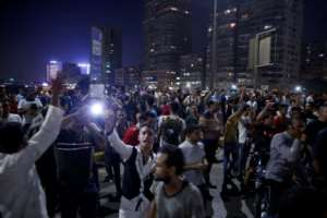 Egypt's government has taken no chances and arrested over 600 people after hundreds of Egyptians protested against the president's rule last week.  By STR (AFP/File)