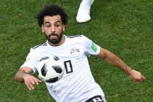 Egypt's Mohamed Salah controls the ball during their Russia 2018 World Cup Group A match against Saudi Arabia, in Volgograd, on June 25.  By Mark RALSTON (AFP/File)