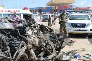 Eighty-one people were killed when a Shebab car bomb detonated at a busy checkpoint in Mogadishu on December 28, 2019.  By Abdirazak Hussein FARAH (AFP/File)