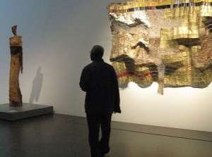 The show features the pieces for which Anatsui is best known.  By Donna Bryson (AFP)
