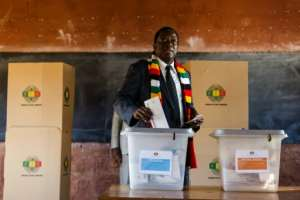 Emmerson Mnangagwa has promised changeand is the clear front-runner.  By Jekesai NJIKIZANA (AFP)