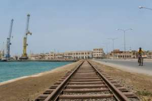 Empty wharves, an empty road and railway in Massawa.  By Maheder HAILESELASSIE TADESE (AFP)