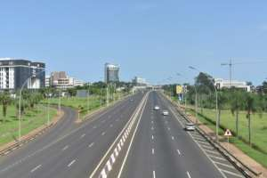 Empty: A freeway in Malabo last Friday.  By Samuel OBIANG (AFP)