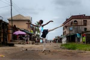 En pointe: The Leap of Dance Academy aims to bring ballet to underprivileged children in Nigeria.  By Benson Ibeabuchi (AFP)