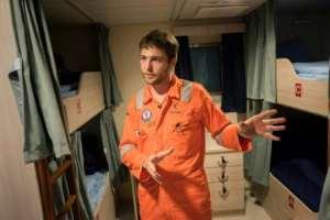 Engineer Benoit Tanguy, 30, is among the crew on the