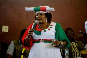 Esther Muinjangue is the first woman to run for president of Namibia.  By HILDEGARD TITUS (AFP)