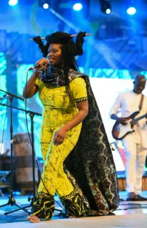 Epega, 37, who performs under the stage name The Venus Bushfires, says reaction to her Pidgin opera has been
