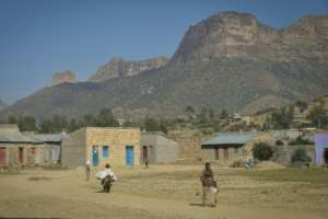 Eritrean refugees still cross into Ethiopia by the hundreds each day. Shown here is the border village of Sebeya.  By MICHAEL TEWELDE (AFP)