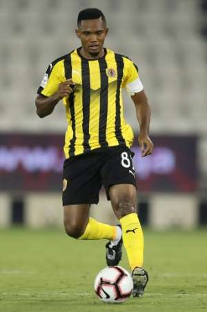 Eto'o ended his playing career with a spell turning out for Qatar SC.  By KARIM JAAFAR (AFP/File)