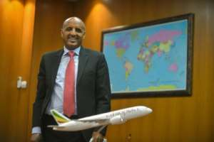 Ethiopian Airlines CEO Tewolde Gebremariam said it may need to defer lease payments on aircraft.  By Michael Tewelde (AFP)