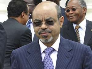 Ethiopia's Prime Minister Meles Zenawi pictured in Nairobi in March 2012.  By Simon Maina (AFP/File)