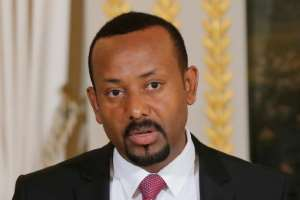 Ethiopian Prime Minister Abiy Ahmed, seen here during a trip to Paris last October, has won high praise for his reform programme.  By Michel Euler (POOL/AFP)