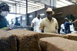 Eugene Kremien, who heads the Ivorian natural rubber association APROMAC, has a new dream: that of producing tyres that are 'Made in Ivory Coast'.  By SIA KAMBOU (AFP)