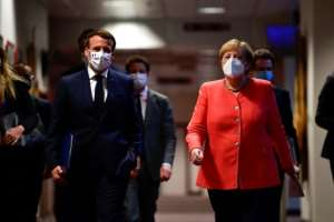 European Union leaders have agreed on a massive coronavirus recovery plan after a fractious summit.  By JOHN THYS (POOL/AFP)