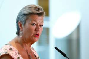 European Commissioner for Home Affairs Ylva Johansson says the EU's new asylum system has to mandatory.  By FRANCOIS LENOIR (POOL/AFP/File)