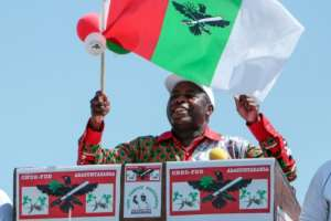 Evariste Ndayishimiye, aveteran party operator, is viewed as the frontrunner in the presidential vote.  By - (AFP)