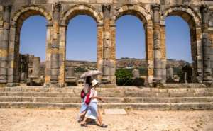 Excavations at Volubilis began in 1915, along with research programmes and restoration work.  By FADEL SENNA (AFP)