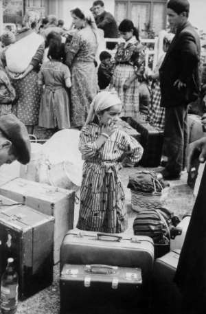 Exile: A young Algerian Harki girl arrives at the Rivesaltes camp in France in September 1962.  By STF (AFP/File)