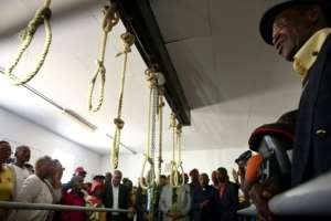 Families of anti-apartheid activists hanged at Pretoria Central Prison can visit the gallows as part of a grieving process that involves their loved ones' remains being located, disinterred, and handed over for reburial. By Phill Magakoe (AFP/File)