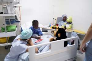 Fanta Diarra, who was diagnosed with a heart condition when she was just a baby, underwent the operation in what medics hope will be the first of many such life-saving operations for Malians who previously have had to travel overseas for treatment.  By Sebastien Rieussec (AFP)