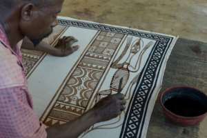 Fakaha has a tradition of producing hand-spun cotton cloth paintings. By SIA KAMBOU (AFP)