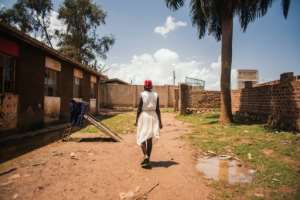 Faridah, pictured here in Kampala, says she wants to become a women's rights lawyer.  By - (Plan International/AFP)