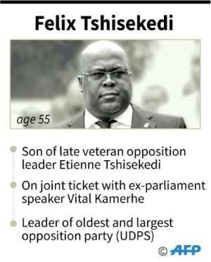 Felix Tshisekedi, declared winner of presidential elections in Democratic Republic of Congo..  By Juliette VILROBE (AFP)
