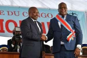 Felix Tshisekedi succeeded Joseph Kabila in January.  By TONY KARUMBA (AFP/File)