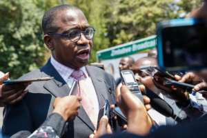 Finance Minister Mthuli Ncube was a former professor at Oxford and a vice president at the African Development Bank.  By Jekesai NJIKIZANA (AFP)