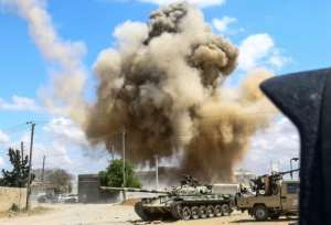 Fierce fighting on the outskirts of the Libyan capital Tripoli has left almost 150 people dead since early April.  By Mahmud TURKIA (AFP)