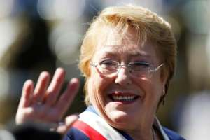 First elected in 2006 and serving two non-consecutive terms, Michelle Bachelet left office this year.  By PABLO VERA LISPERGUER (AFP/File)