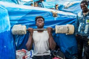 Five migrants died in 2018 in northeastern camps due to disease and poor hygiene, according to one association.  By FADEL SENNA (AFP)