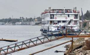 Forty-five passengers and crew on the A-Sara cruise ship, docked off of tourist hot-spot Luxor, tested positive for the novel coronavirus.  By - (AFP)