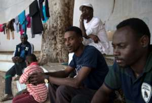 For many of the Sudanese migrants staying at the school in Libya's capital Tripoli, the makeshift shelter is latest stop in a long and dangerous journey. By FADEL SENNA (AFP)