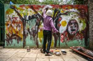 For years graffiti in Sudan remained underground amid censorship imposed by heavy-handed security agents. By OZAN KOSE (AFP/File)