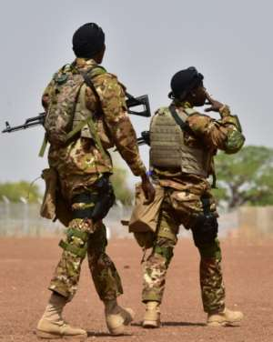 Foreign soldiers are training local forces.  By ISSOUF SANOGO (AFP/File)