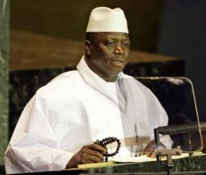 Former Gambian President Yahya Jammeh, pictured in 2005, has been in exile since January 2017 after a 22-year-rule marked by human rights violations, but has plans to return.  By JEFF HAYNES (AFP/File)