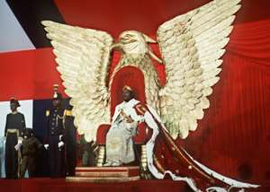 Former general Jean-Bedel Bokassa, an admirer of Napoleon, had himself crowned emperor in 1977. He was deposed two years later.  By PIERRE GUILLAUD (AFP)