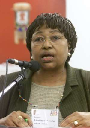 Former health minister Manto Tshabalala-Msimang became the symbol of the disastrous mismanagement of South Africa's HIV pandemic. She was dubbed 'Dr. Beetroot' for insisting the vegetable was a remedy for AIDS.  By YOAV LEMMER (AFP)