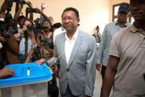 Former Madagascan president Hery Rajaonarimampianina ruled from 2014 to September 2018.  By Mamyrael (AFP)