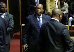 Former South African president Jacob Zuma was forced to set up an inquiry into allegations of graft shortly before he left office.  By Themba Hadebe (POOL/AFP)