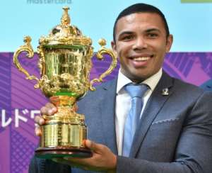 Former World Rugby Players of the Year Bryan Habana of South Africa says the Springboks can lift the trophy again.  By Kazuhiro NOGI (AFP)