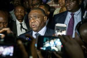 Former warlord and ex-vice president Jean-Pierre Bemba returned home last week to file his election bid.  By Junior D. KANNAH (AFP)