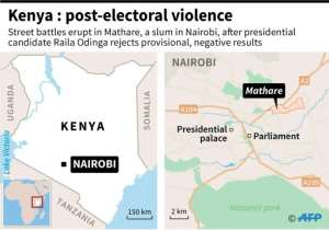 Four people have been killed in post-election violence in Kenya