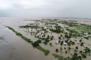 Flood zone: The land west of the city of Beira has been turned almost into an inland sea. By Handout (UN World Food Programme/AFP)