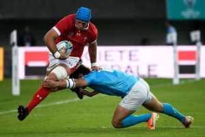 Flanker Justin Tipuric is at the heart of Wales's defensive strategy.  By CHRISTOPHE SIMON (AFP)
