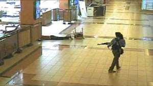 Flashback: CCTV image of a gunman at the besieged shopping mall.  By - (WESTGATE MALL/AFP/File)